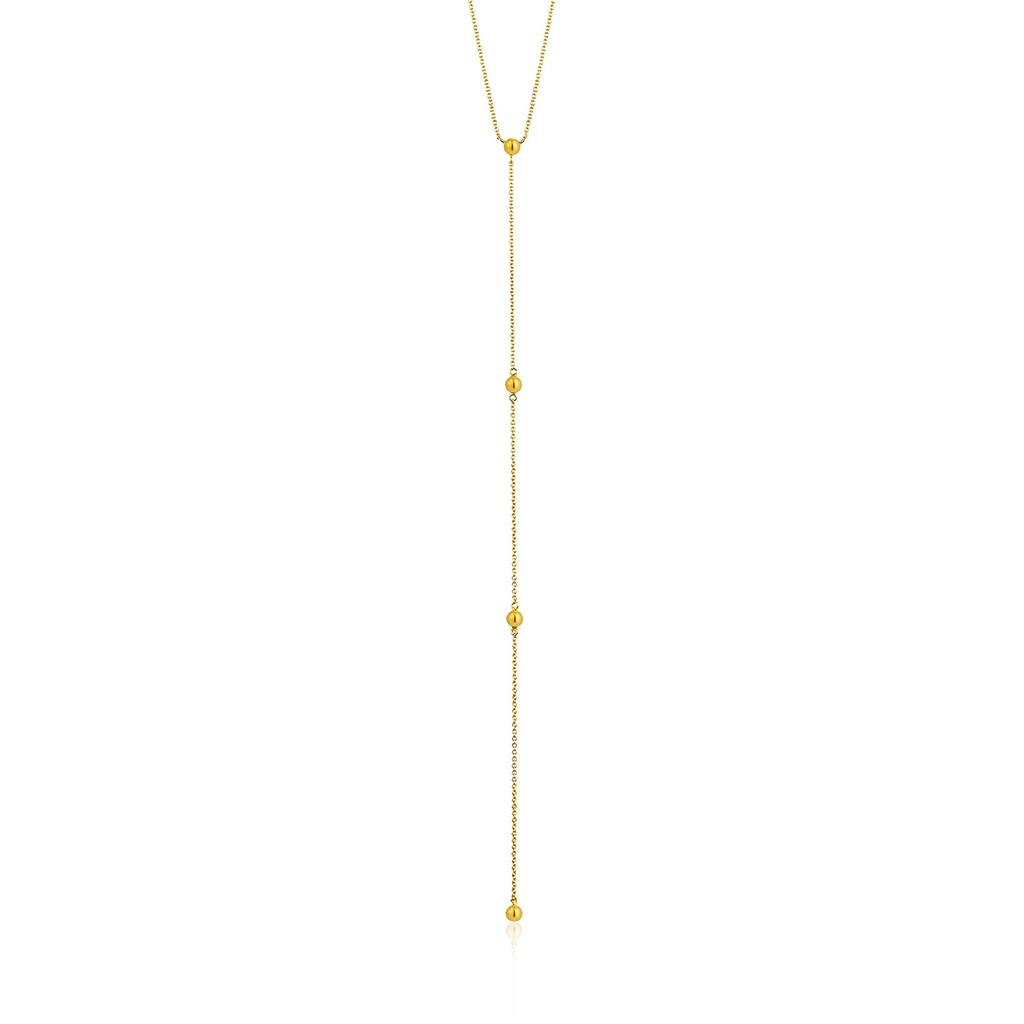 ANIA HAIE MODERN BEADED Y NECKLACE 925S