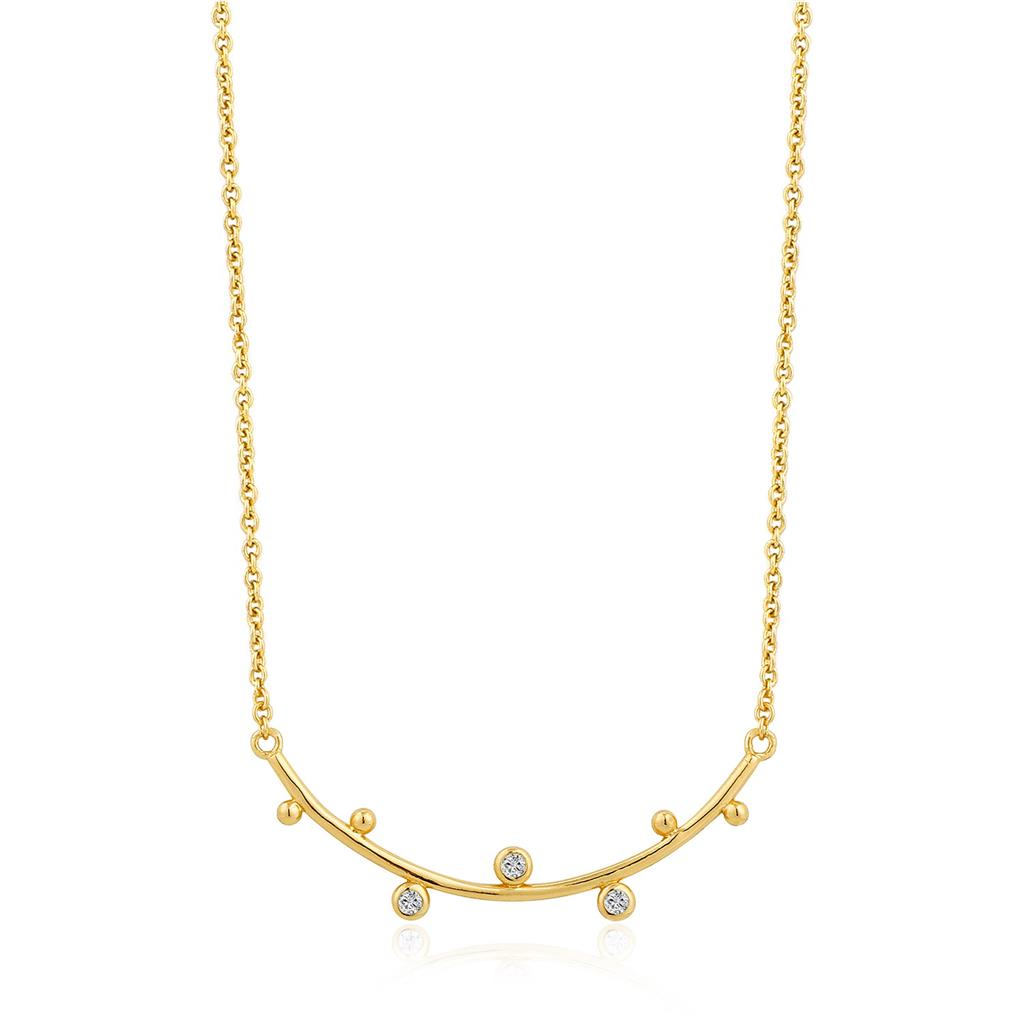 ANIA HAIE SHIMMER SOLID BAR STUD NECKLACE 925S