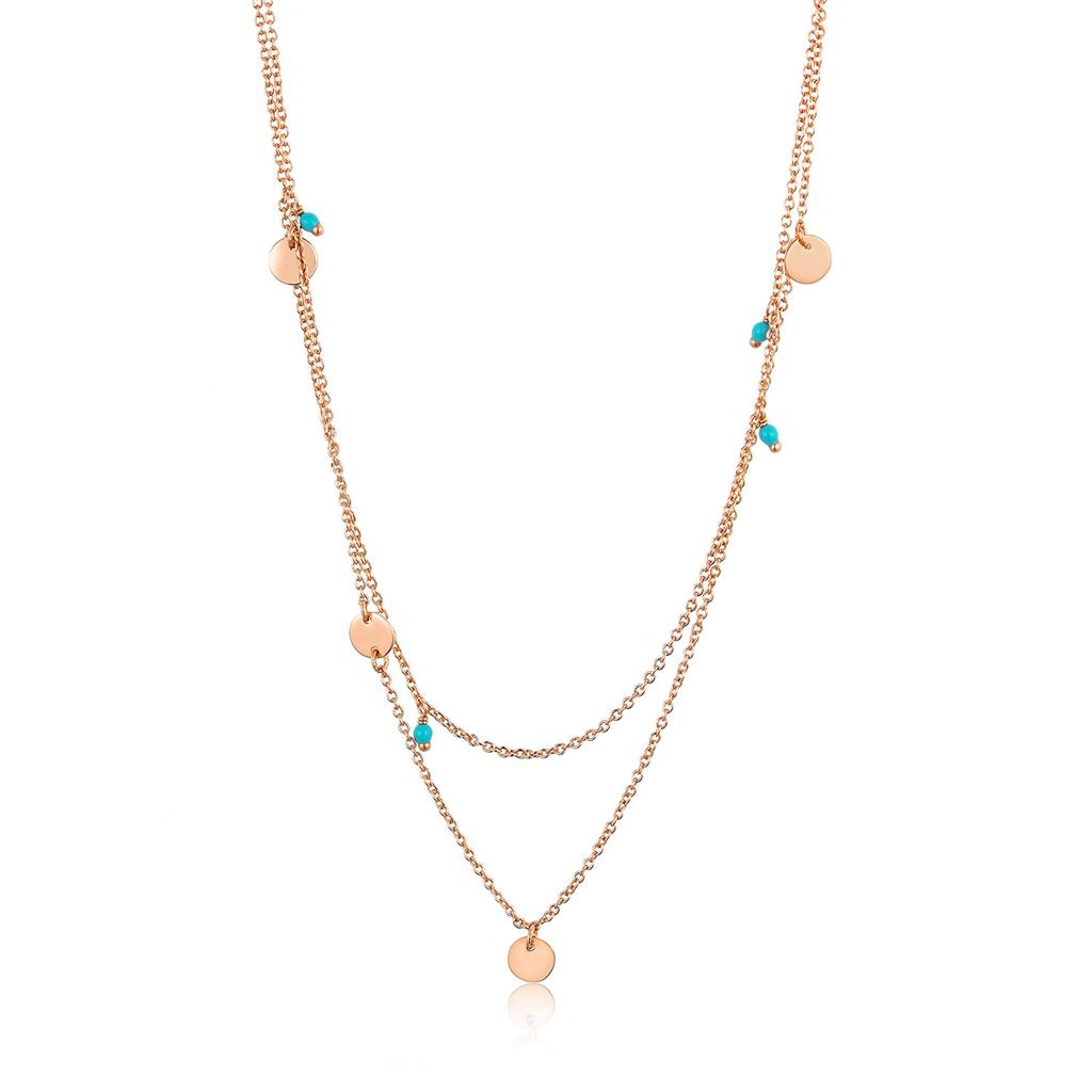 ANIA HAIE DOTTED DOUBLE NECKLACE 925S