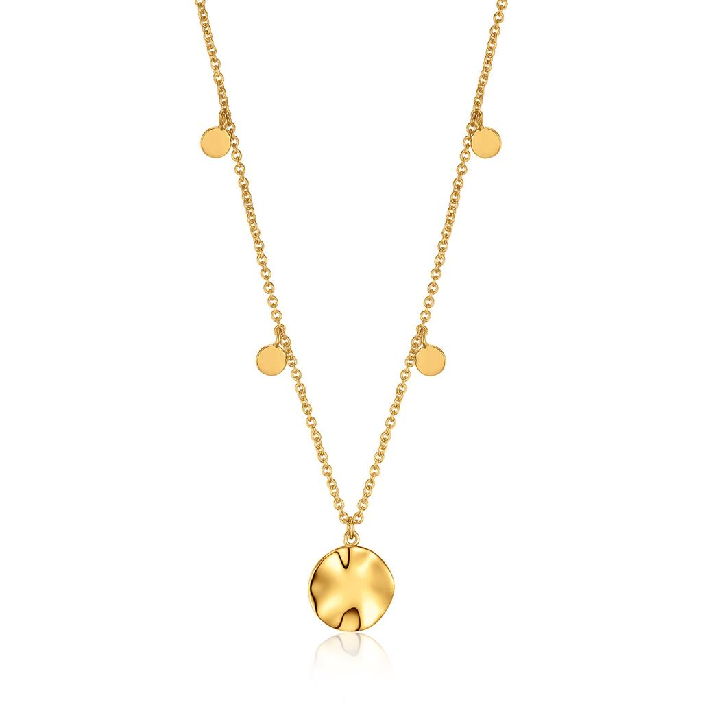 ANIA HAIE RIPPLE DROP DISCS NECKLACE 925S