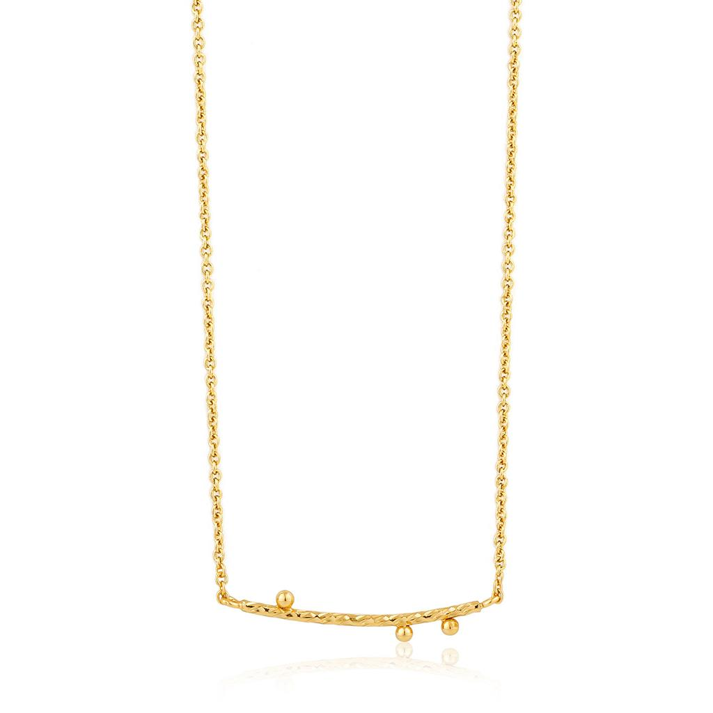 ANIA HAIE TEXTURE SOLID BAR NECKLACE 925S