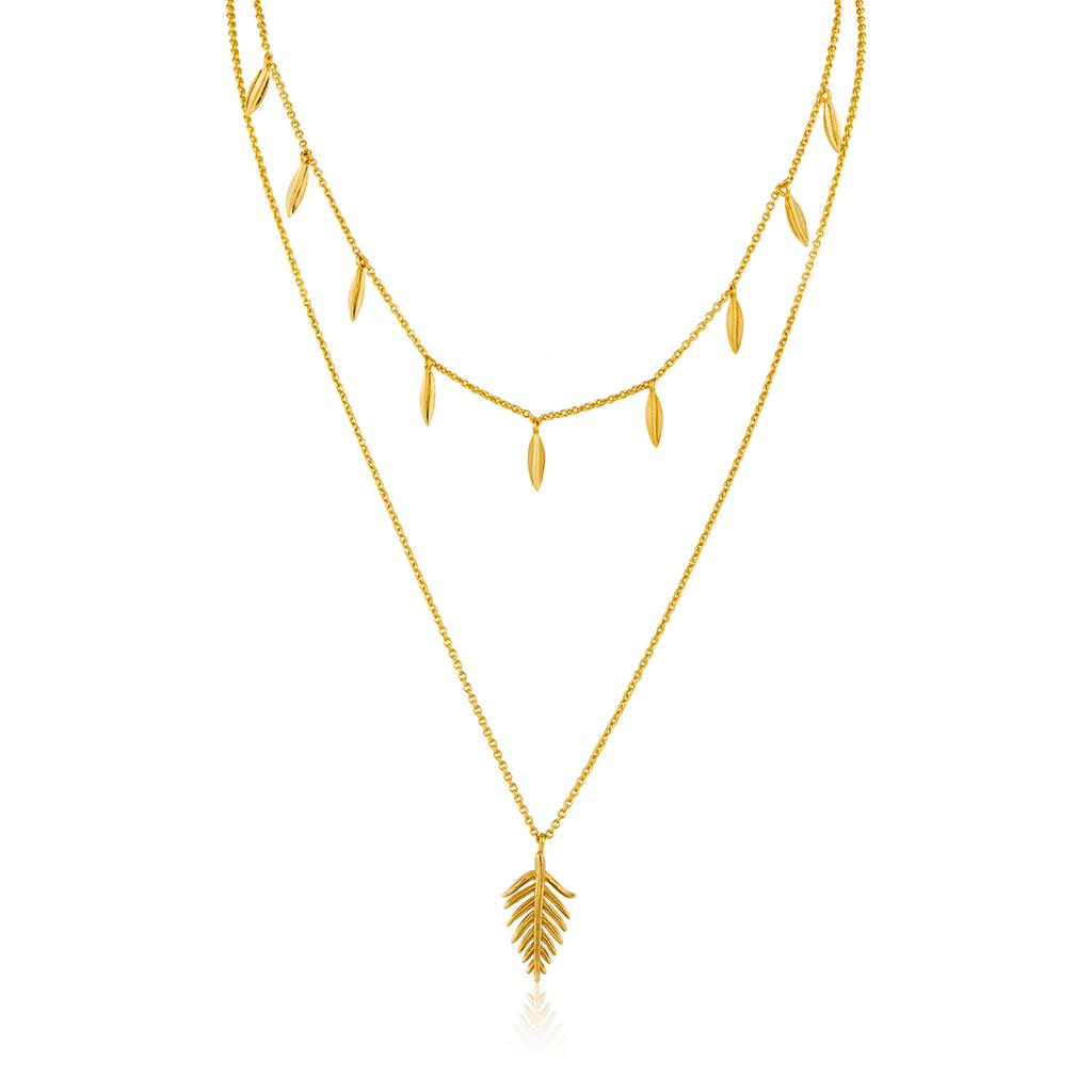 ANIA HAIE TROPIC DOUBLE NECKLACE 925S