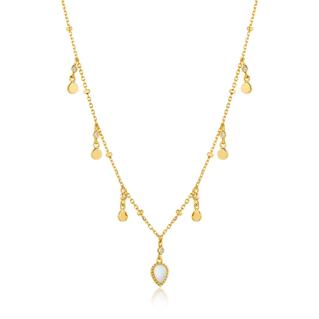 ANIA HAIE DREAM DROP DISCS NECKLACE 925S