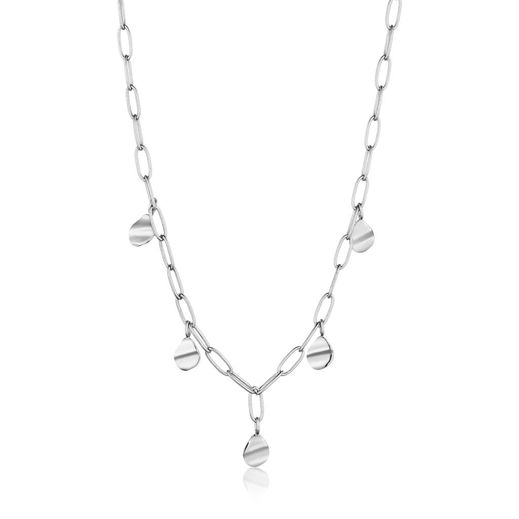 ANIA HAIE CRUSH DROP DISCS NECKLACE 925S