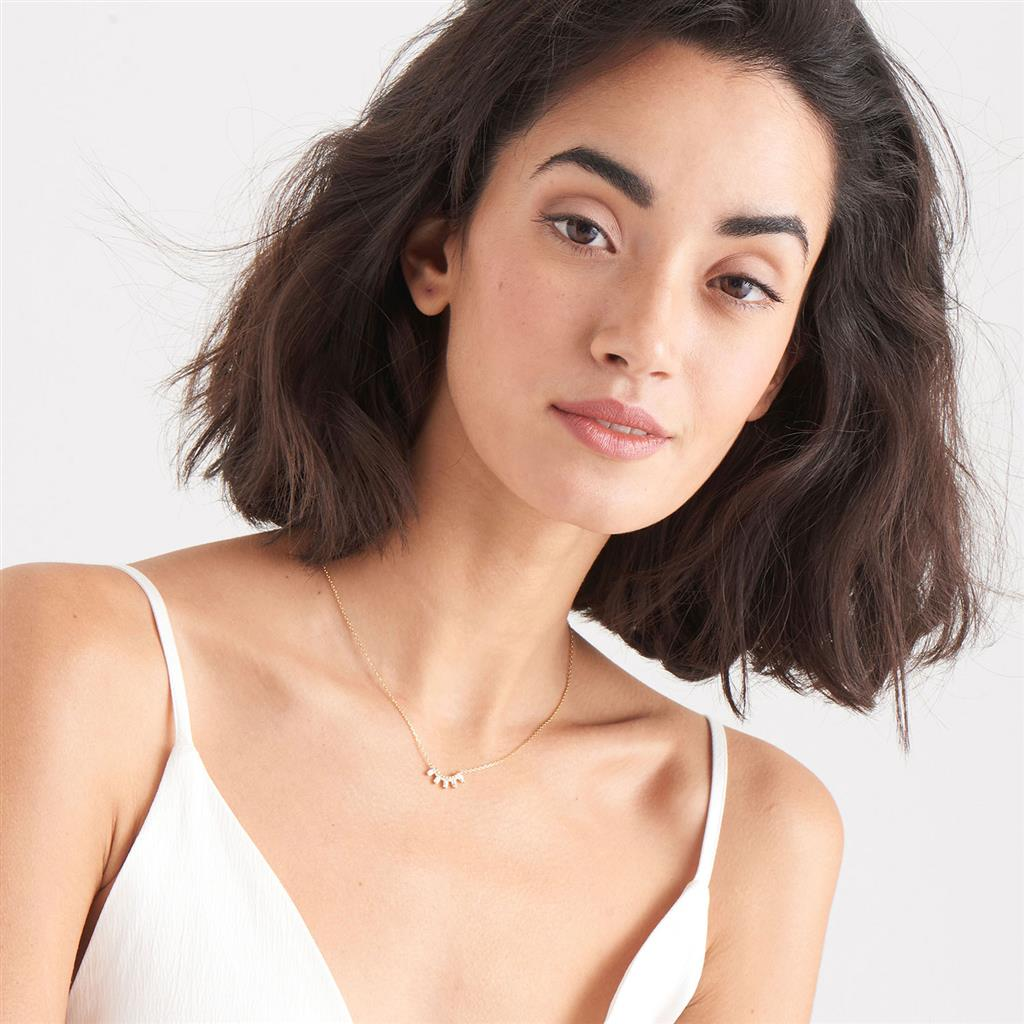 ANIA HAIE GLOW SOLID BAR NECKLACE 925S