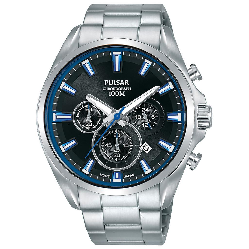 PULSAR MENS 44MM 100M CHRONOGRAPH