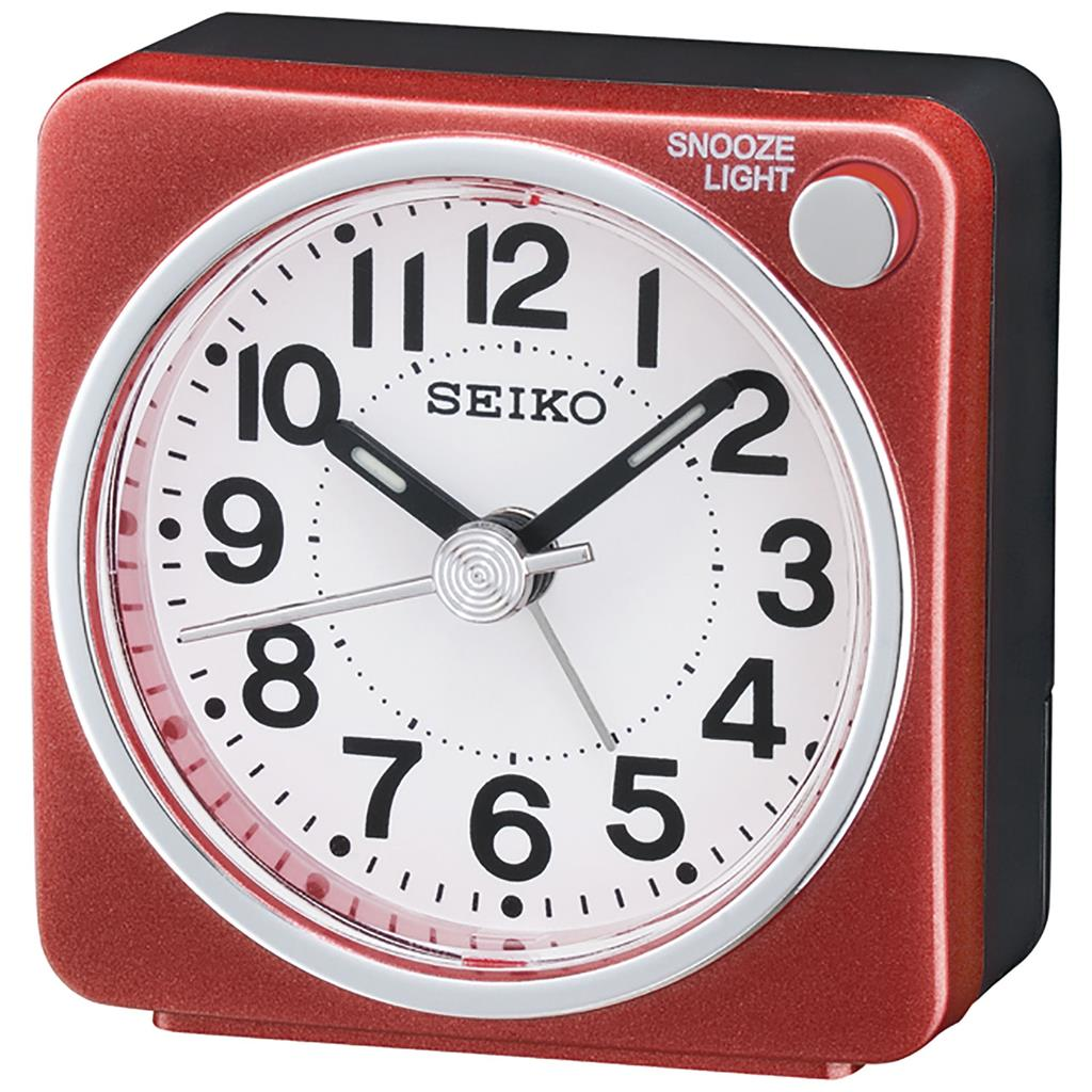 SEIKO ALARM CLOCK 6X6X3CM SWEEP SNOOZE LIGHT LUMI