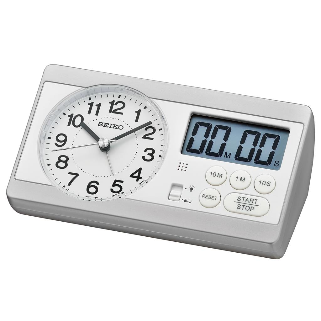SEIKO ALARM CLOCK 6X16X9SWEEP SNOOZ LIGHT STOP.COU