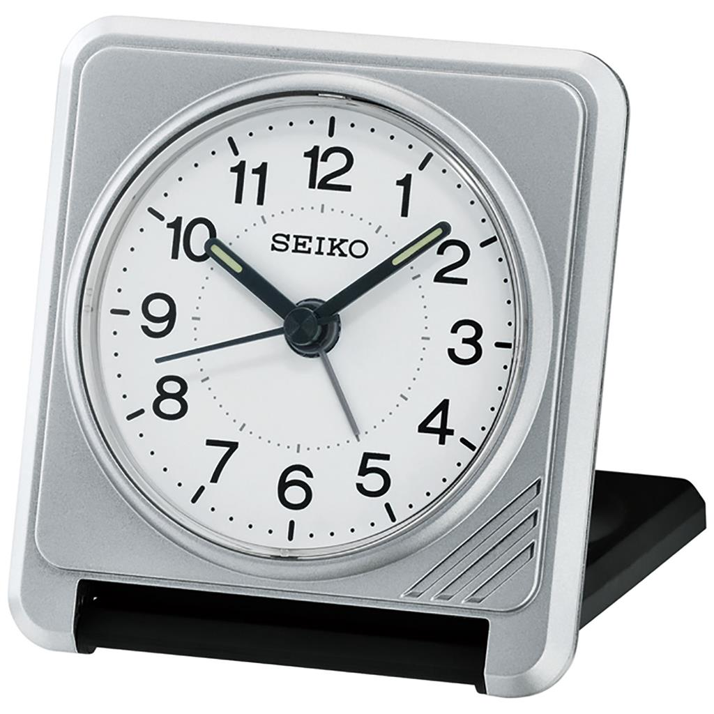 SEIKO TRAVEL ALARM  8X8X2CM SNOOZE LIGHT LUMIBRIT'