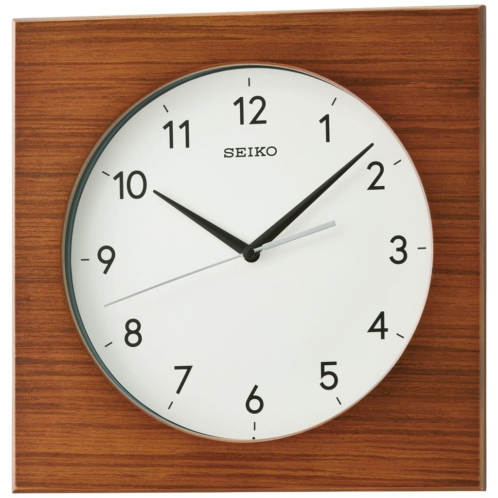 SEIKO WALL CLOCK Ø30X30X5CM SWEEP WOODEN CASE