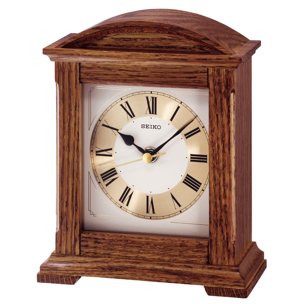 SEIKO TABLE CLOCK 19X16X8 CM  SWEEP OAK'