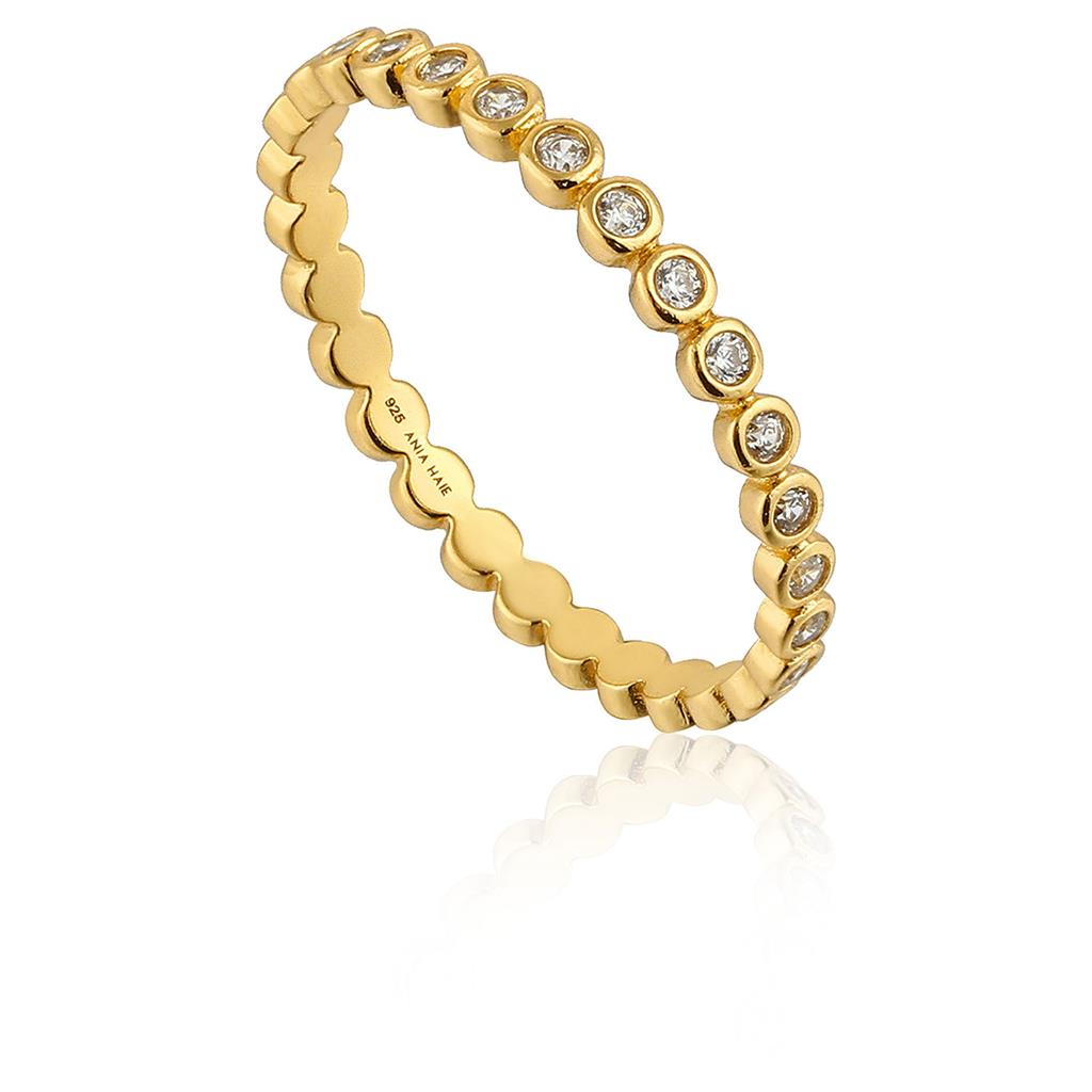 ANIA HAIE SHIMMER HALF ETERNITY RING 925S