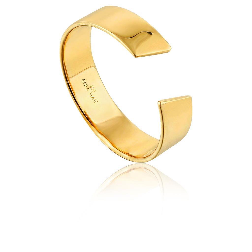 ANIA HAIE GEOMETRY WIDE ADJUSTABLE RING 925S
