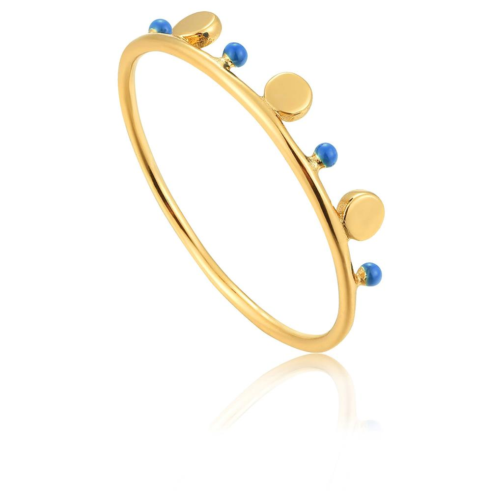 ANIA HAIE DOTTED TRIPLE DISC RING 925S