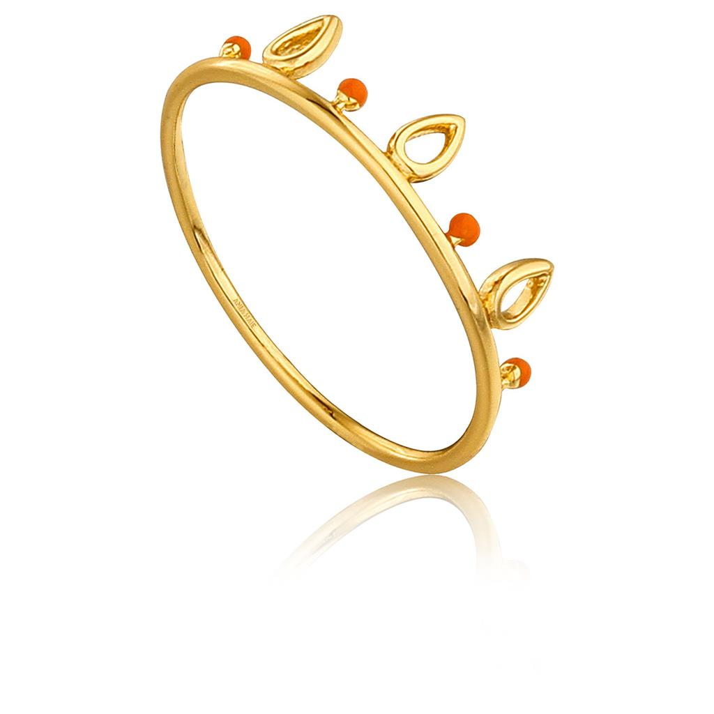 ANIA HAIE DOTTED TRIPLE RAINDROP RING 925S