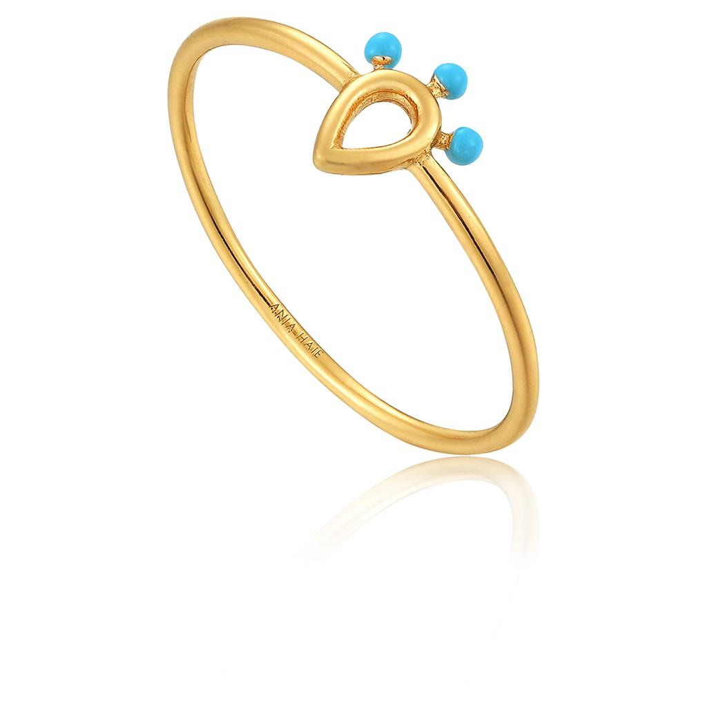 ANIA HAIE DOTTED RAINDROP RING 925S