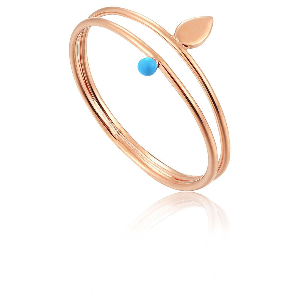 ANIA HAIE DOTTED DOUBLE RING 925S