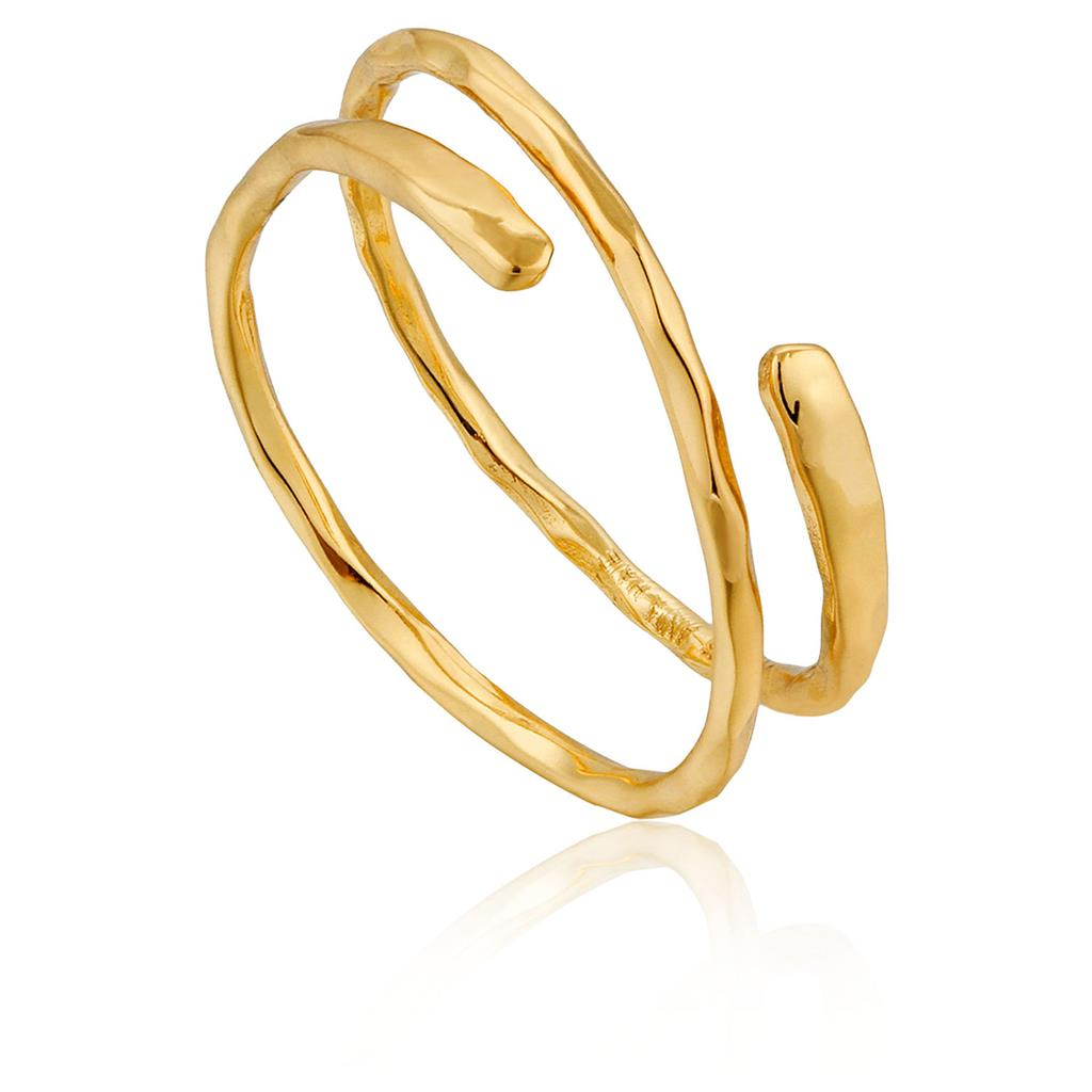 ANIA HAIE RIPPLE ADJUSTABLE RING 925S