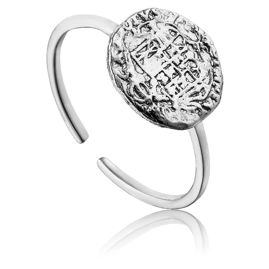 ANIA HAIE EMBLEM ADJUSTABLE RING 925S