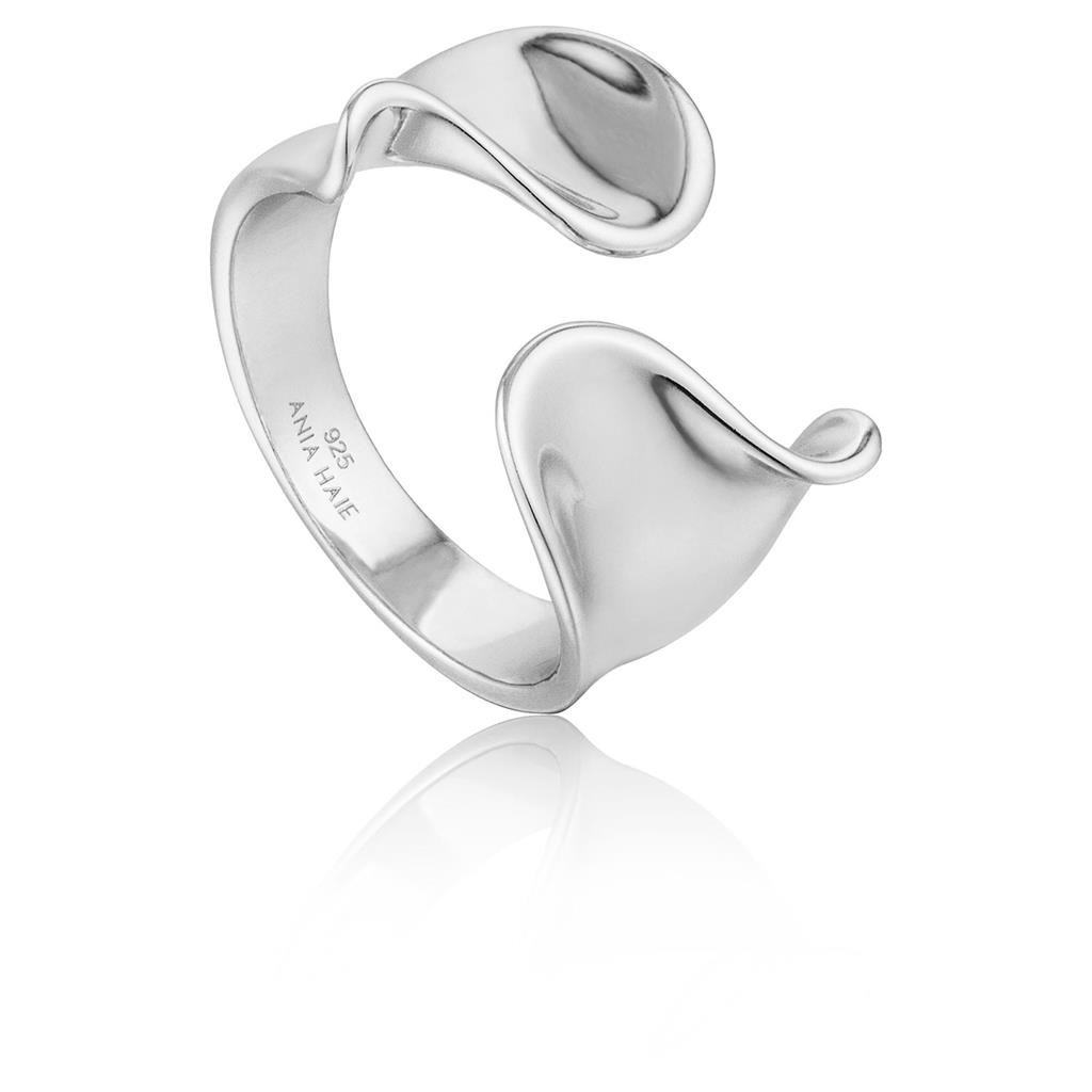 ANIA HAIE TWIST WIDE ADJUSTABLE RING 925S