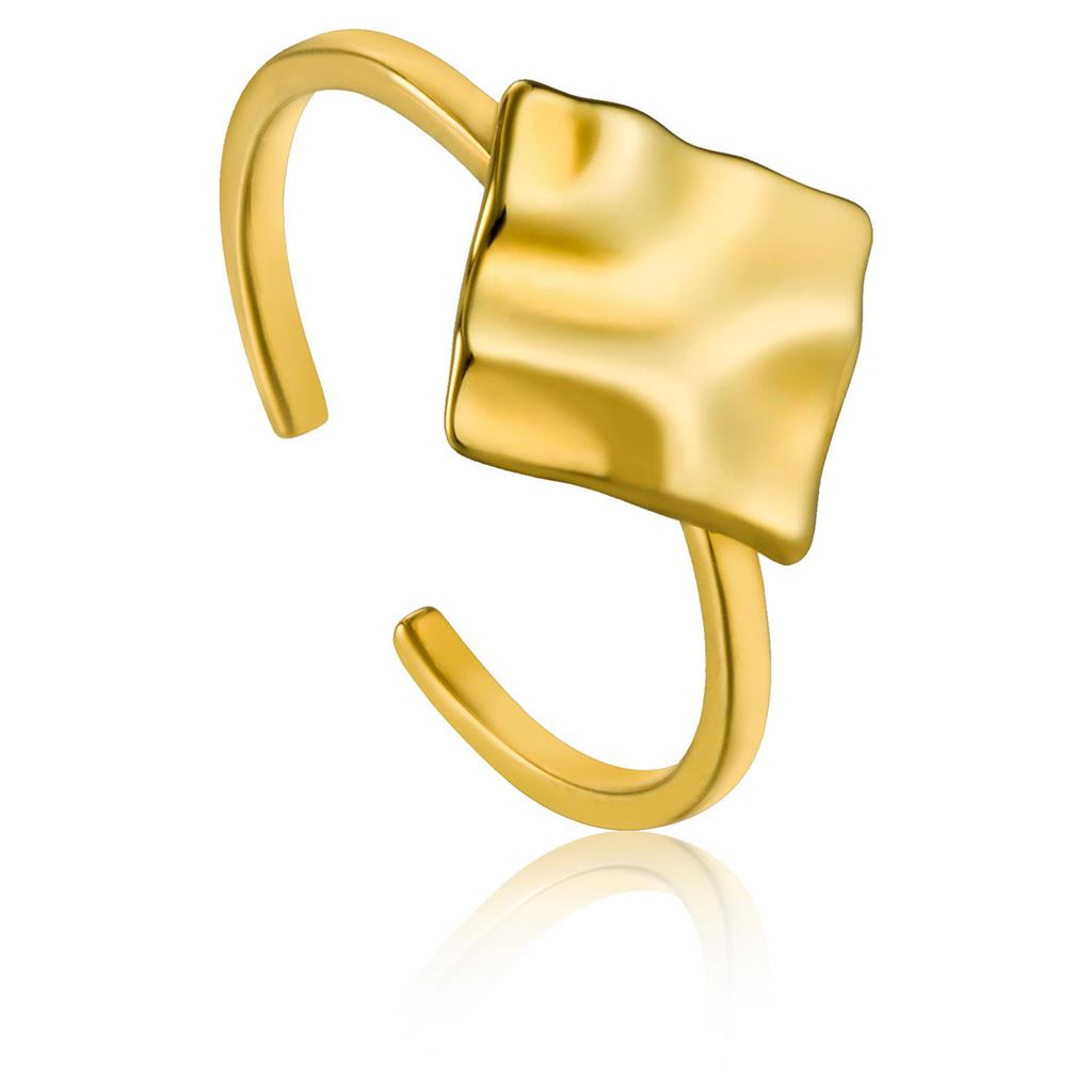 ANIA HAIE CRUSH SQUARE ADJUSTABLE RING 925S
