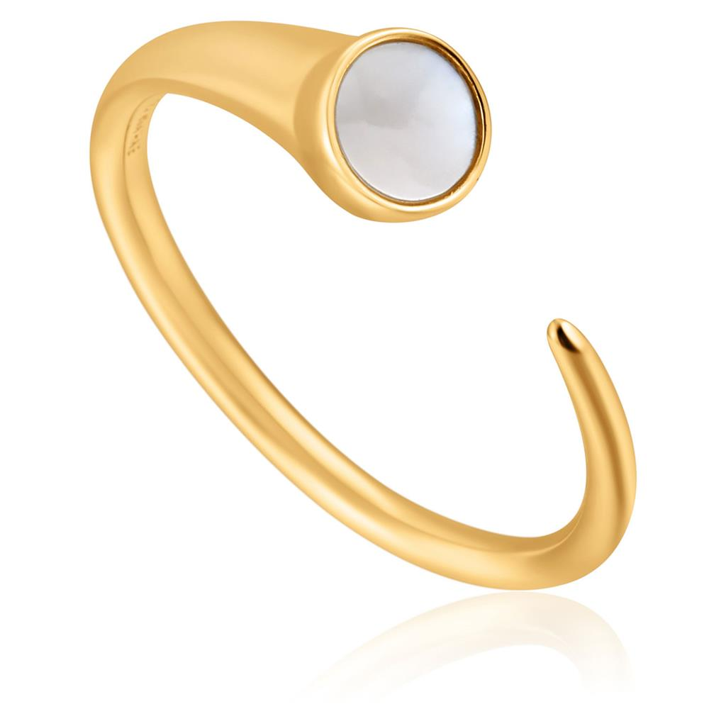 ANIA HAIE MOTHER OF PEARL CLAW RING 925S