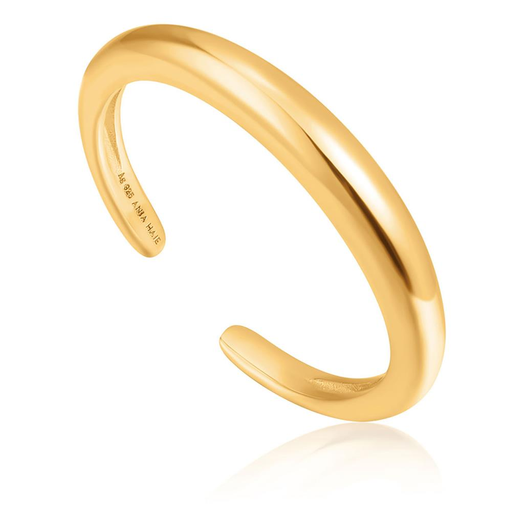 ANIA HAIE LUXE BAND ADJUSTABLE RING 925S