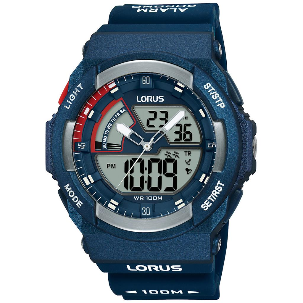 LORUS MENS 50MM 100M CHRONO/ALARM