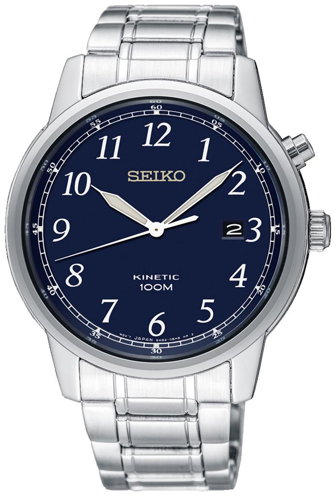 SEIKO MENS KINETIC 41MM 100M  XL