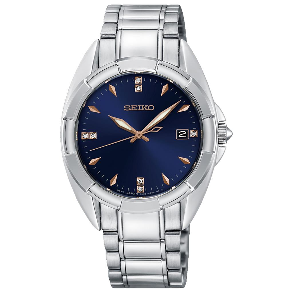 SEIKO LADIES 33MM SAFIR 100M 7 DIAMONDS