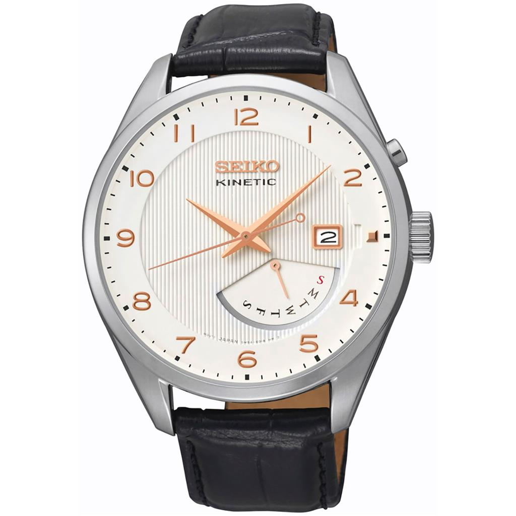 SEIKO MENS KINETIC 42MM 100M'