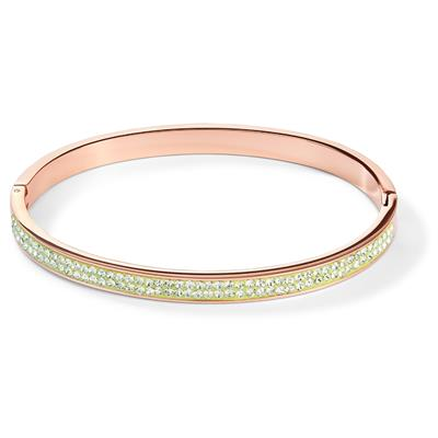 COEUR DE LION BANGLE LIGHT GREEN 17 CM