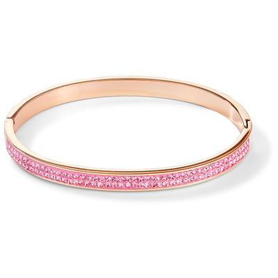 COEUR DE LION BANGLE LIGHT ROSE 17 CM
