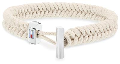 TOMMY HILFIGER COATED CORD BRACELET W/TOGGLE CLOSU