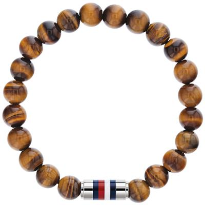 TOMMY HILFIGER BEADED BRACELET TIGER EYE
