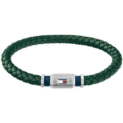 TOMMY HILFIGER BRAIDED BRACELET  GREEN 19 CM