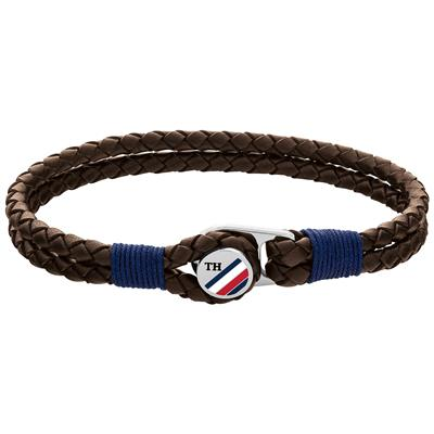 TOMMY HILFIGER BUTTON LEATHER BRACELET 19,5CM