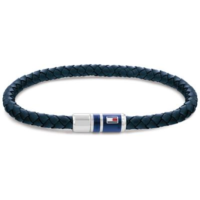 TOMMY HILFIGER BRAIDED LEATHER BRACELET  19CM