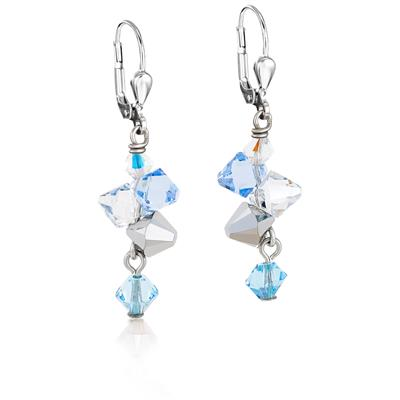 COEUR DE LION PIERCED EARRINGS SWAROVSKI® CRYSTALS