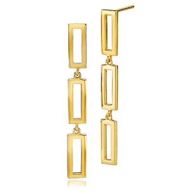 IZABEL CAMILLE TIME SQUARE LARGE EARRINGS 925S