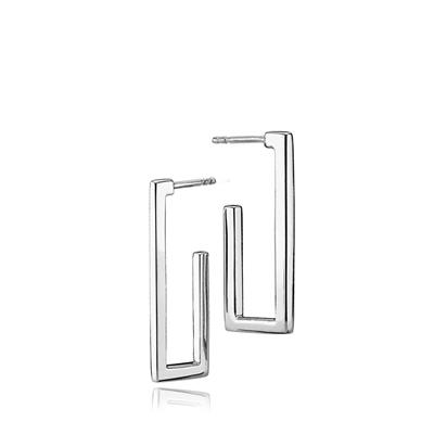 IZABEL CAMILLE TIME SQUARE EARRINGS 925S