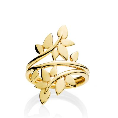 IZABEL CAMILLE RING SHINY GOLDPL.SILVER- POETRY