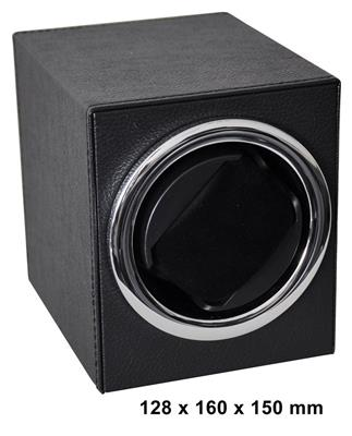 WATCH WINDER 1 WATCH (LEATHER BLACK) BATT. DRIVEN