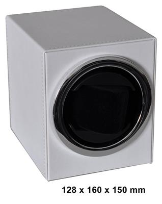 WATCH WINDER 1 WATCH (LEATHER WHITE) BATT. DRIVEN