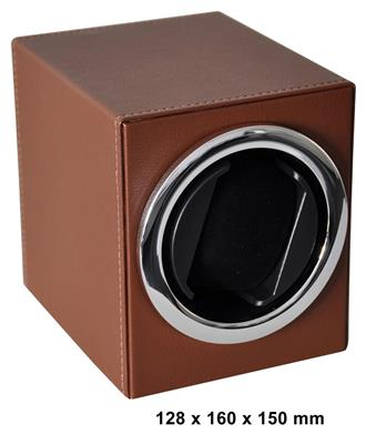 WATCH WINDER 1 WATCH (LEATHER BROWN) BATT. DRIVEN