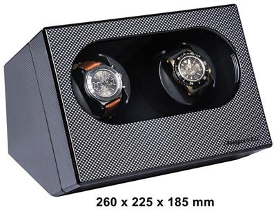 WATCH WINDER 2 WATCHES (CARBON FIBER) WITH ADAPTER