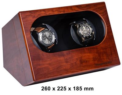 WATCH WINDER 2 WATCHES(BUVINGA PAPER) WITH ADAPTER