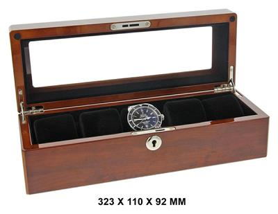 WATCH BOX FOR 5 WATCHES BUVINGA 323 X 110 X 92 MM