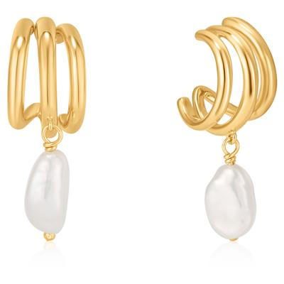 ANIA HAIE TRIPLE MINI HOOP EARRINGS 925S