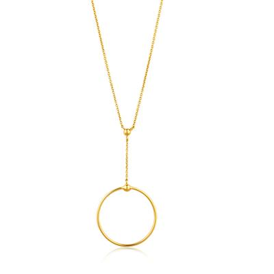 ANIA HAIE ORBIT DROP CIRCLE NECKLACE 925S